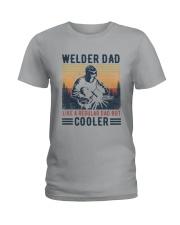 Vintage Welder Dad Like A Regular Dad But Shirt Ladies T-Shirt thumbnail
