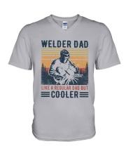 Vintage Welder Dad Like A Regular Dad But Shirt V-Neck T-Shirt thumbnail