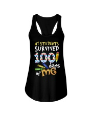 My Students Survived 100 Days Of Me Shirt Ladies Flowy Tank thumbnail