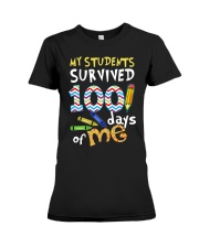My Students Survived 100 Days Of Me Shirt Premium Fit Ladies Tee thumbnail