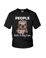 Flower Sloth People Not A Big Fan Shirt Youth T-Shirt thumbnail