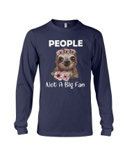 Flower Sloth People Not A Big Fan Shirt Long Sleeve Tee thumbnail