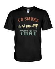 Cannabis I'd Smoke That Shirt V-Neck T-Shirt thumbnail