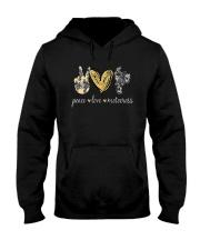 Peace Love Motocross Shirt Hooded Sweatshirt thumbnail
