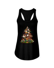 Chicken Christmas Tree Shirt Ladies Flowy Tank thumbnail