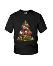 Chicken Christmas Tree Shirt Youth T-Shirt thumbnail
