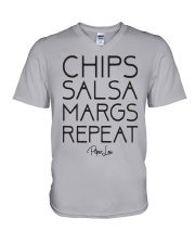 Chips Salsa Margs Repeat Shirt V-Neck T-Shirt thumbnail