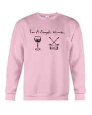I'm A Simple Woman Like Wine Hockey Shirt Crewneck Sweatshirt thumbnail