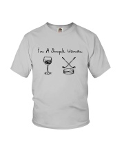 I'm A Simple Woman Like Wine Hockey Shirt Youth T-Shirt tile