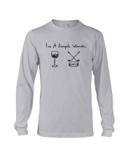 I'm A Simple Woman Like Wine Hockey Shirt Long Sleeve Tee thumbnail