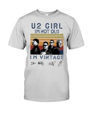 Vintage U2 Girl I'm Not Old I'm Vintage Shirt Premium Fit Mens Tee thumbnail