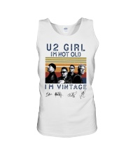 Vintage U2 Girl I'm Not Old I'm Vintage Shirt Unisex Tank tile