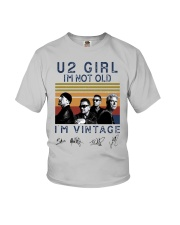 Vintage U2 Girl I'm Not Old I'm Vintage Shirt Youth T-Shirt thumbnail