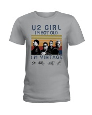 Vintage U2 Girl I'm Not Old I'm Vintage Shirt Ladies T-Shirt thumbnail