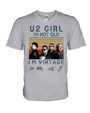 Vintage U2 Girl I'm Not Old I'm Vintage Shirt V-Neck T-Shirt thumbnail