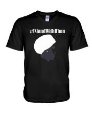 IstandWithIlhan Shirt V-Neck T-Shirt thumbnail