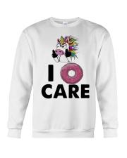 Unicorn Donut I Care Shirt Crewneck Sweatshirt thumbnail
