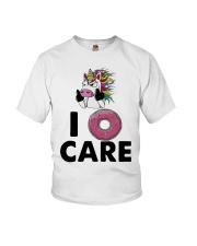Unicorn Donut I Care Shirt Youth T-Shirt thumbnail