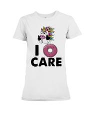Unicorn Donut I Care Shirt Premium Fit Ladies Tee thumbnail