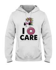 Unicorn Donut I Care Shirt Hooded Sweatshirt thumbnail