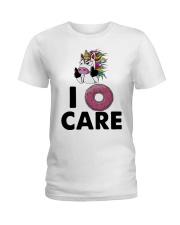 Unicorn Donut I Care Shirt Ladies T-Shirt thumbnail