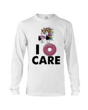 Unicorn Donut I Care Shirt Long Sleeve Tee thumbnail