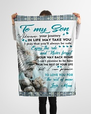 """To My Son - Mom Small Fleece Blanket - 30"""" x 40"""" aos-coral-fleece-blanket-30x40-lifestyle-front-14"""