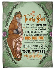 To My Son -Mom Fleece Blanket tile