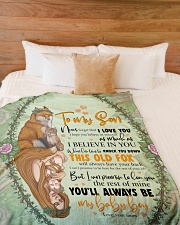 "To My Son -Mom Large Fleece Blanket - 60"" x 80"" aos-coral-fleece-blanket-60x80-lifestyle-front-02"