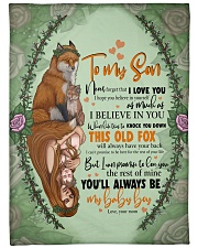 "To My Son -Mom Large Fleece Blanket - 60"" x 80"" front"