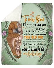 "To My Son -Mom Sherpa Fleece Blanket - 50"" x 60"" thumbnail"