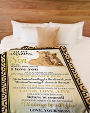 """To My Son -Mom Large Fleece Blanket - 60"""" x 80"""" aos-coral-fleece-blanket-60x80-lifestyle-front-02"""