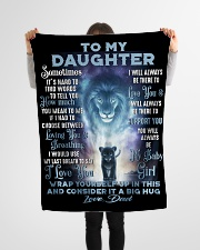 """To My Daughter - Dad Small Fleece Blanket - 30"""" x 40"""" aos-coral-fleece-blanket-30x40-lifestyle-front-14"""