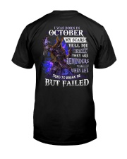 October Men My Scars  Classic T-Shirt back
