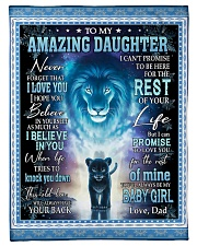 Blanket To My Daughter Fleece Blanket tile