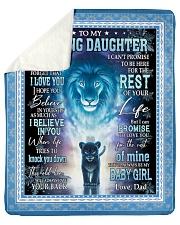 Blanket To My Daughter Sherpa Fleece Blanket tile