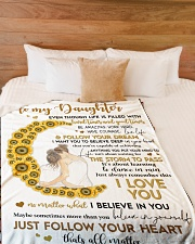 """To My Daughter -  Mom Large Fleece Blanket - 60"""" x 80"""" aos-coral-fleece-blanket-60x80-lifestyle-front-02"""