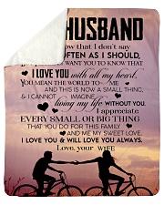"To My Husband  Sherpa Fleece Blanket - 50"" x 60"" thumbnail"