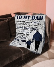 """Blanket To My  Dad Small Fleece Blanket - 30"""" x 40"""" aos-coral-fleece-blanket-30x40-lifestyle-front-05"""