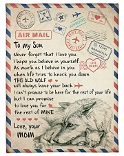 "To My Son - Mom Small Fleece Blanket - 30"" x 40"" thumbnail"
