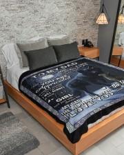 "Blanket To My Dad Large Sherpa Fleece Blanket - 60"" x 80"" aos-sherpa-fleece-blanket-lifestyle-front-04"