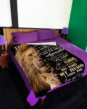 "Blanket To My Dad Large Fleece Blanket - 60"" x 80"" aos-coral-fleece-blanket-60x80-lifestyle-front-01"