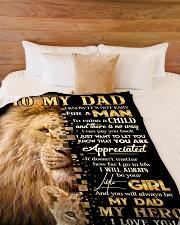 "Blanket To My Dad Large Fleece Blanket - 60"" x 80"" aos-coral-fleece-blanket-60x80-lifestyle-front-02"