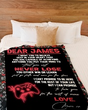 "Dear James  - Mum xx Large Fleece Blanket - 60"" x 80"" aos-coral-fleece-blanket-60x80-lifestyle-front-02"