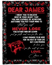 "Dear James  - Mum xx Large Fleece Blanket - 60"" x 80"" front"