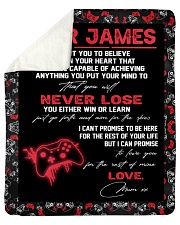 "Dear James  - Mum xx Sherpa Fleece Blanket - 50"" x 60"" thumbnail"