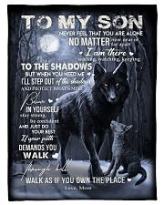 To My Son -Mom Fleece Blanket tile