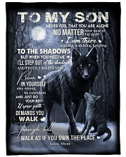 """To My Son -Mom Large Fleece Blanket - 60"""" x 80"""" front"""