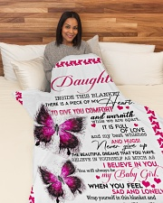 """To my daughter Large Fleece Blanket - 60"""" x 80"""" aos-coral-fleece-blanket-60x80-lifestyle-front-05"""
