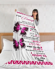 """To my daughter Large Fleece Blanket - 60"""" x 80"""" aos-coral-fleece-blanket-60x80-lifestyle-front-11"""